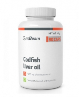 GymBeam Codfish liver oil 90 kaps.