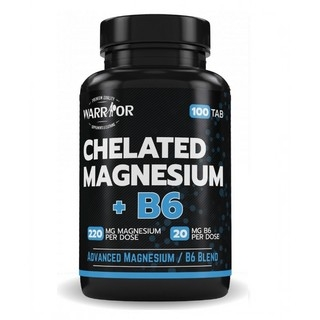 Warrior Chelated Magnesium+B6 100 tbl