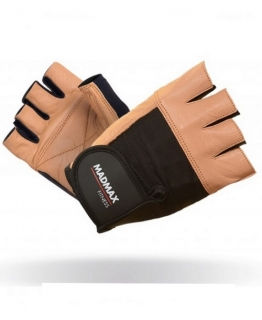 MADMAX Fitness rukavice FITNESS BROWN MFG444 brown